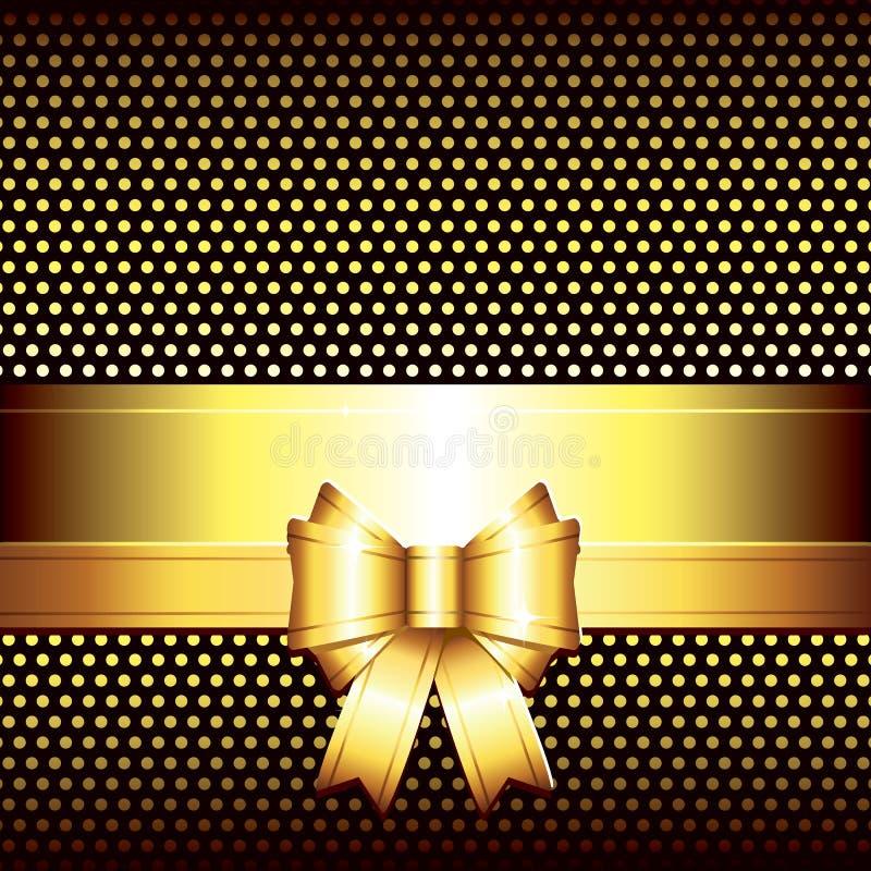 χρυσή πολυτέλεια τόξων αν&a διανυσματική απεικόνιση