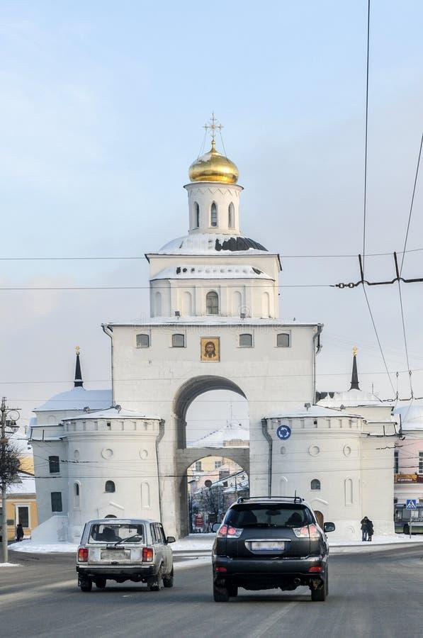 Χρυσή πύλη - Βλαντιμίρ, Ρωσία στοκ εικόνα