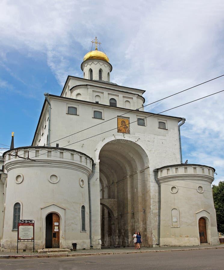 Χρυσή πύλη στο Βλαντιμίρ, Ρωσία στοκ εικόνα με δικαίωμα ελεύθερης χρήσης