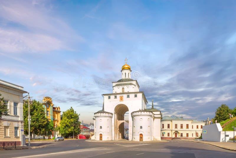 Χρυσή πύλη στο Βλαντιμίρ Ρωσία στοκ εικόνα