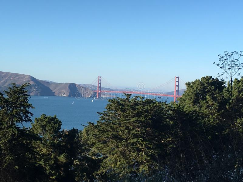 Χρυσή πύλη, ασβέστιο του Σαν Φρανσίσκο στοκ εικόνες