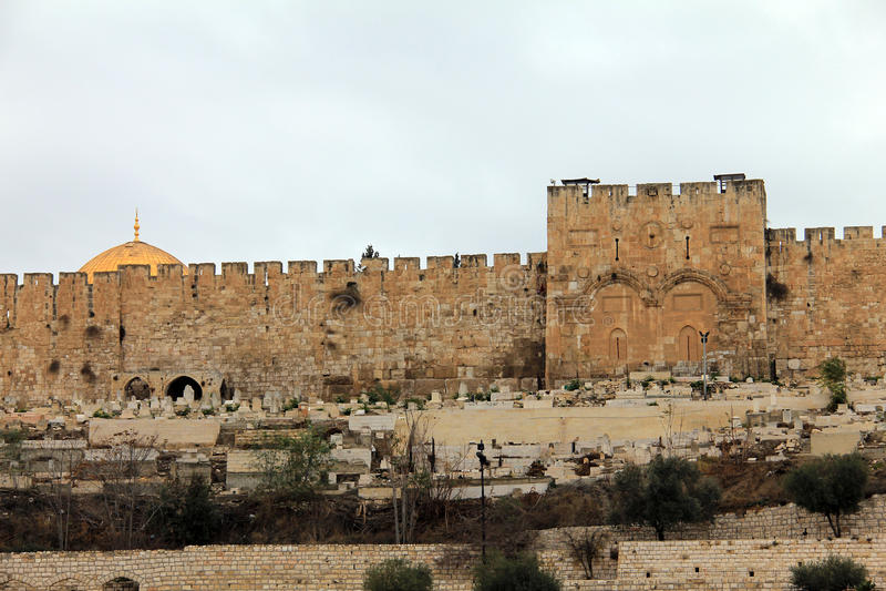 Χρυσή πύλη. Ιερουσαλήμ, Ισραήλ. στοκ φωτογραφία με δικαίωμα ελεύθερης χρήσης