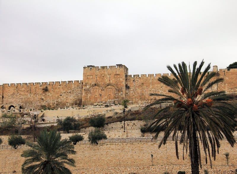 Χρυσή πύλη. Ιερουσαλήμ, Ισραήλ. στοκ εικόνα με δικαίωμα ελεύθερης χρήσης