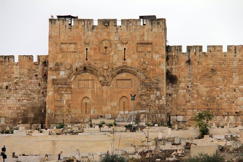 Χρυσή πύλη. Ιερουσαλήμ, Ισραήλ. στοκ εικόνες