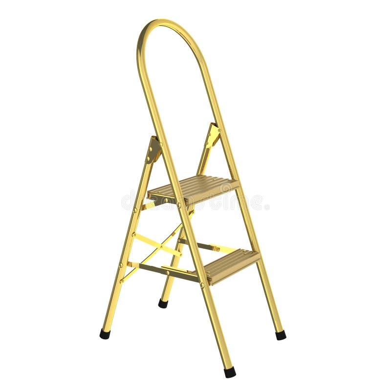 χρυσή σκάλα διανυσματική απεικόνιση