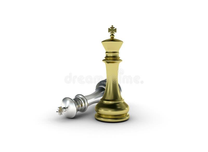 χρυσή στάση βασιλιάδων σκ&a απεικόνιση αποθεμάτων