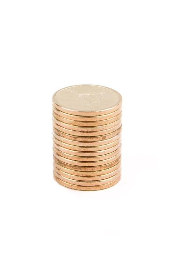 χρυσή στοίβα νομισμάτων στοκ φωτογραφίες με δικαίωμα ελεύθερης χρήσης