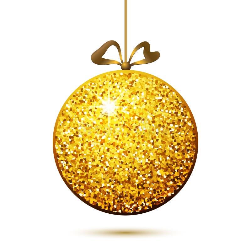 Χρυσή σφαίρα, διακόσμηση Χριστουγέννων ελεύθερη απεικόνιση δικαιώματος
