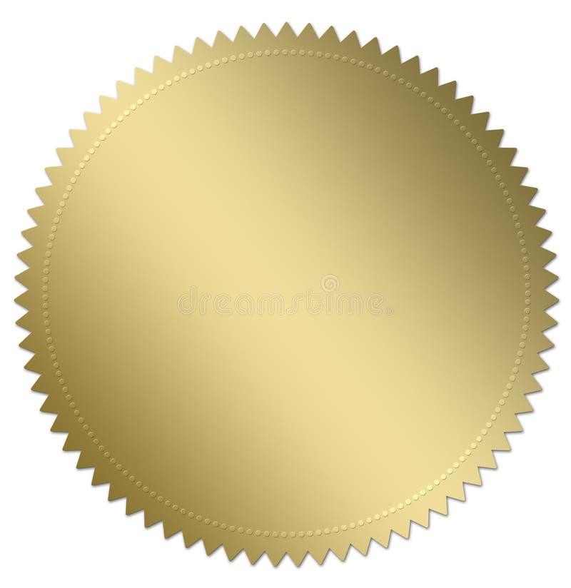 χρυσή σφραγίδα διανυσματική απεικόνιση