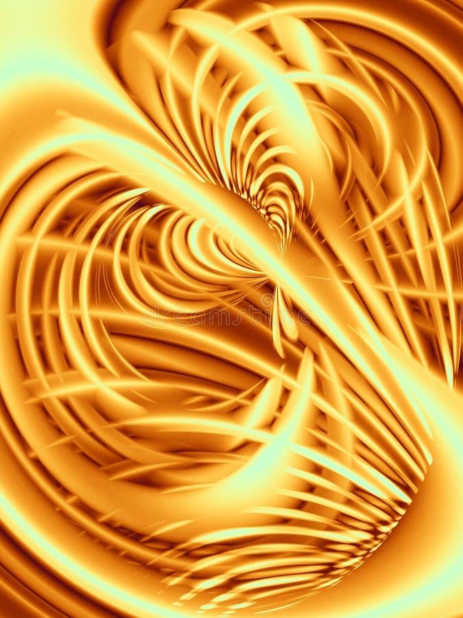 χρυσή σύσταση γραμμών κυμα&t ελεύθερη απεικόνιση δικαιώματος