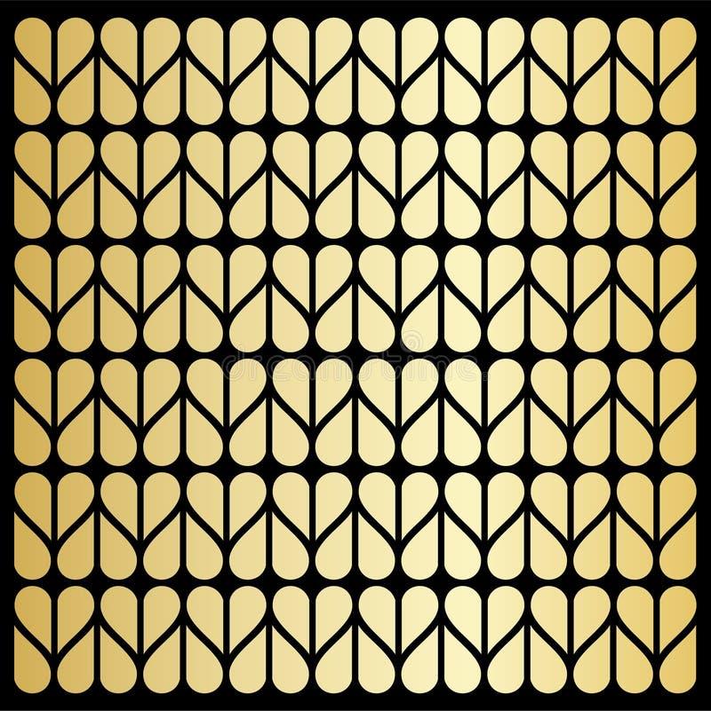 Χρυσή σύσταση καρδιών στοκ φωτογραφίες