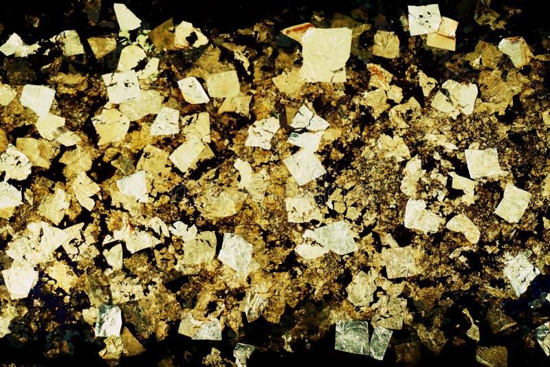 Χρυσή σύσταση φύλλων στοκ φωτογραφία