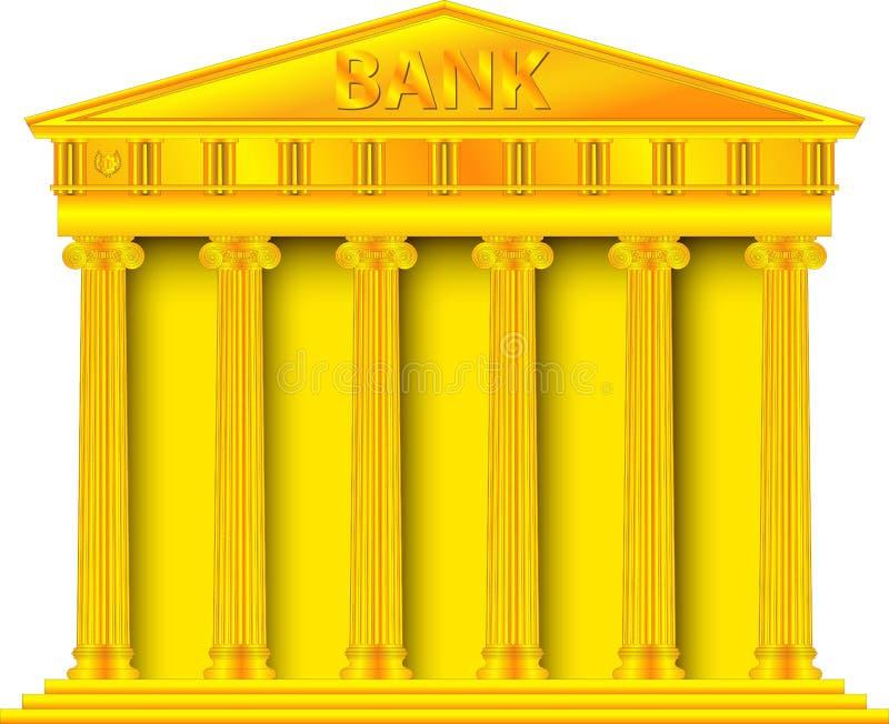 Χρυσή τράπεζα διανυσματική απεικόνιση