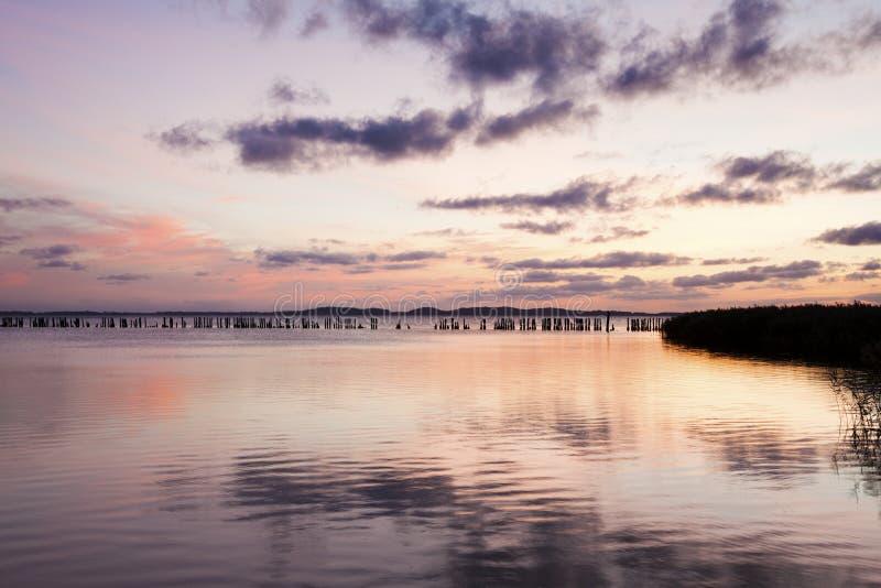 Χρυσή ώρα σε Jasmunder Bodden, νησί Ruegen στοκ φωτογραφία με δικαίωμα ελεύθερης χρήσης