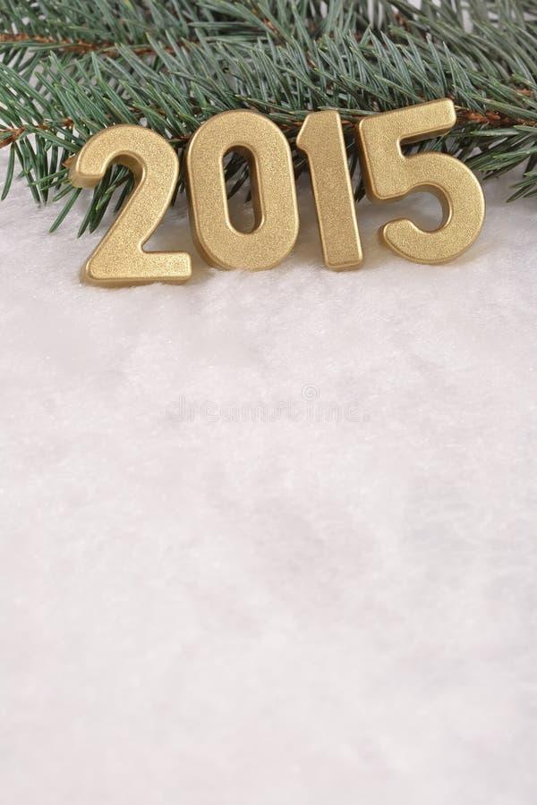 χρυσοί αριθμοί έτους του 2015 στοκ φωτογραφίες