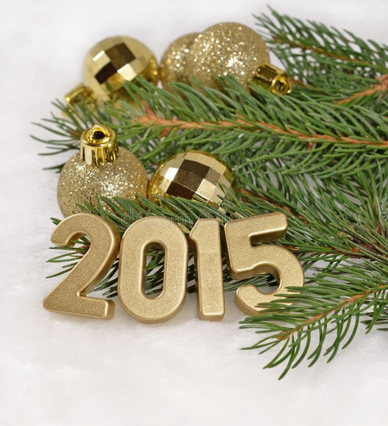 χρυσοί αριθμοί έτους του 2015 στοκ εικόνες