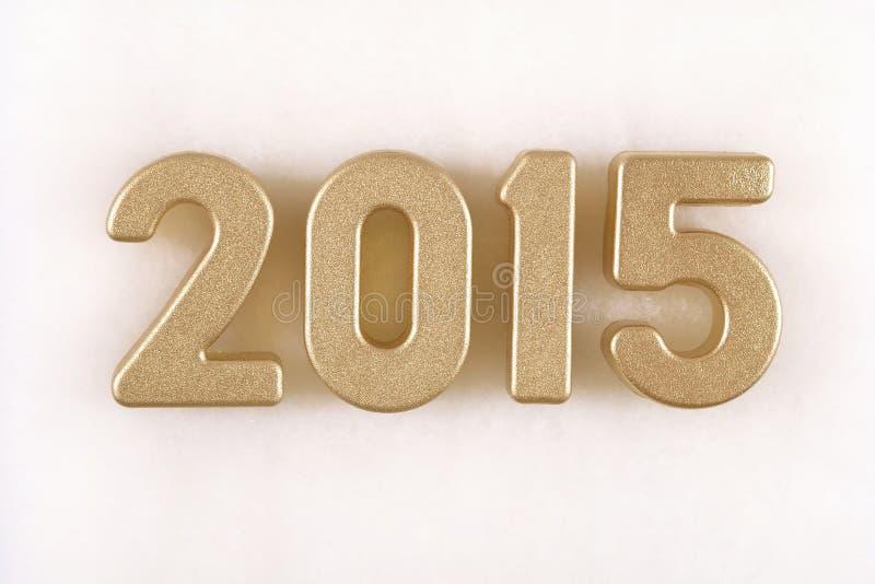 χρυσοί αριθμοί έτους του 2015 στοκ εικόνα με δικαίωμα ελεύθερης χρήσης