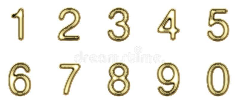 Χρυσοί αριθμοί στοκ φωτογραφία