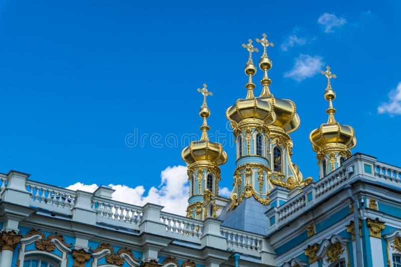 Χρυσοί θόλοι του παρεκκλησιού της Catherine στοκ εικόνες με δικαίωμα ελεύθερης χρήσης