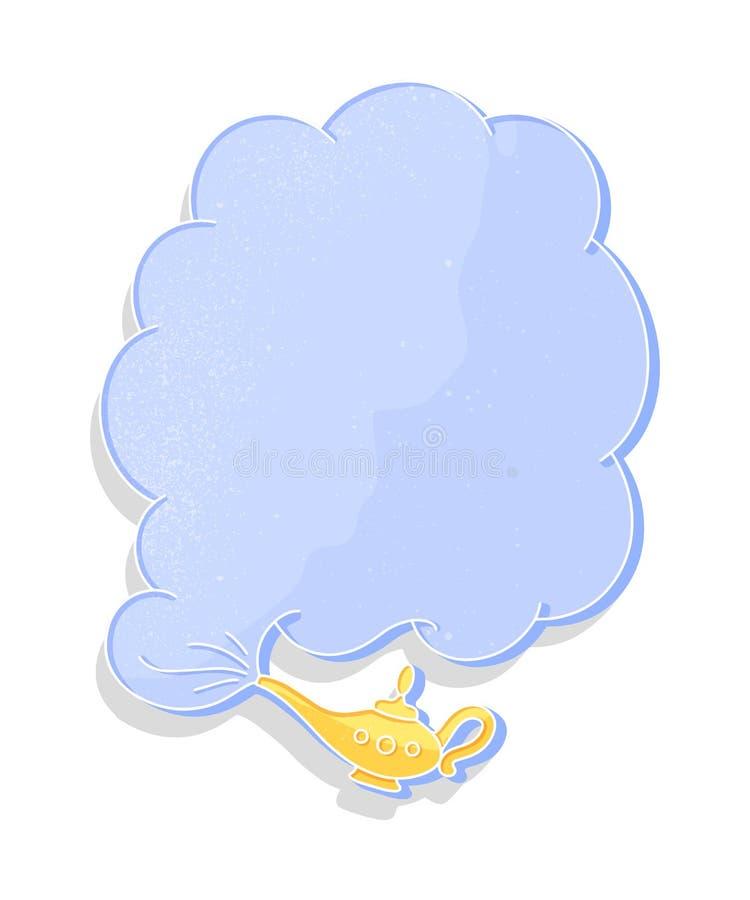 Χρυσοί λαμπτήρας και σύννεφο καπνού στο εκλεκτής ποιότητας ύφος στο άσπρο υπόβαθρο Διανυσματικά αφηρημένα στοιχεία Έννοια διακοσμ ελεύθερη απεικόνιση δικαιώματος