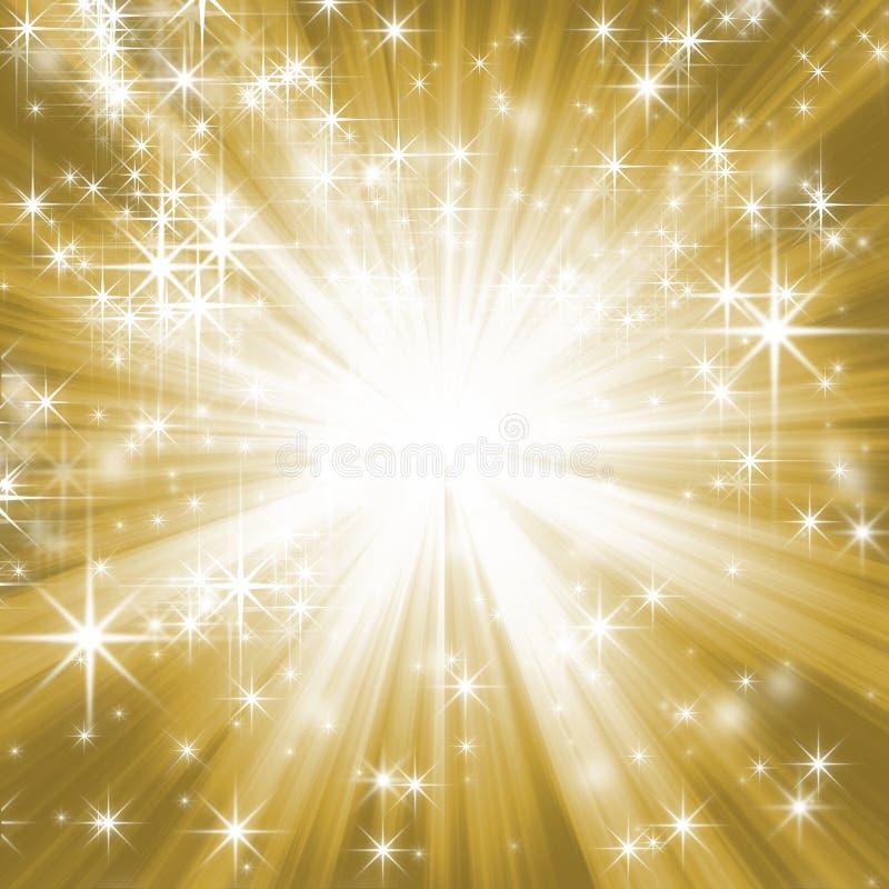 χρυσός έναστρος ανασκόπη&sigm απεικόνιση αποθεμάτων