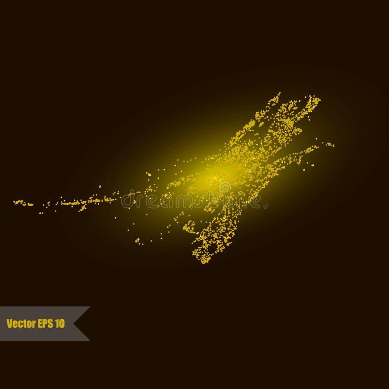 Χρυσός ακτινοβολήστε κόσμος διανυσματική απεικόνιση