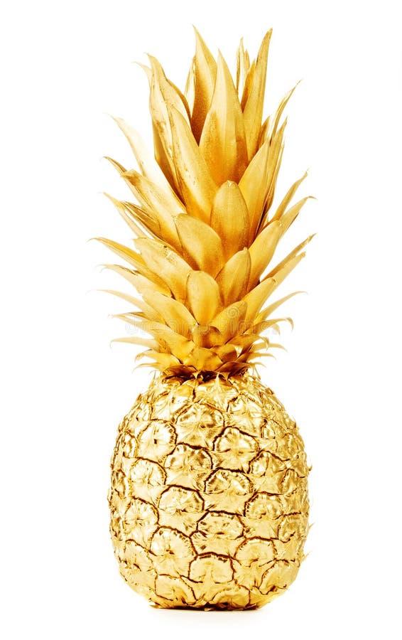 Χρυσός ανανάς στοκ εικόνες