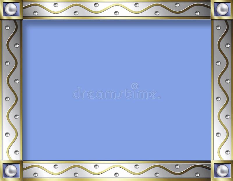 χρυσός ασημένιος τρύγος πλαισίων ελεύθερη απεικόνιση δικαιώματος