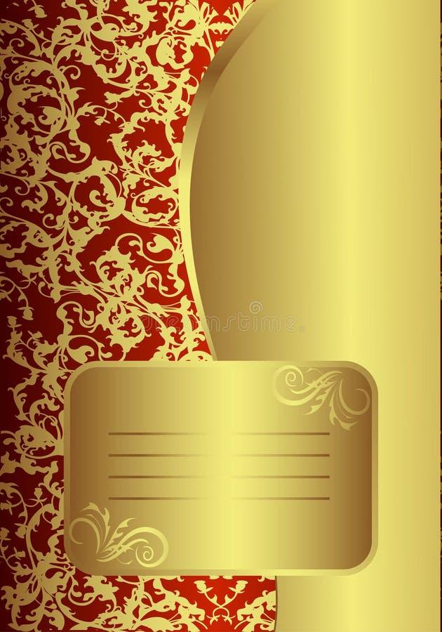 χρυσός βασιλικός καρτών ελεύθερη απεικόνιση δικαιώματος