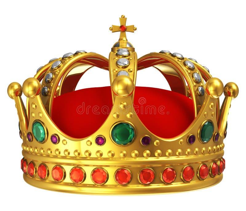 χρυσός βασιλικός κορωνών ελεύθερη απεικόνιση δικαιώματος