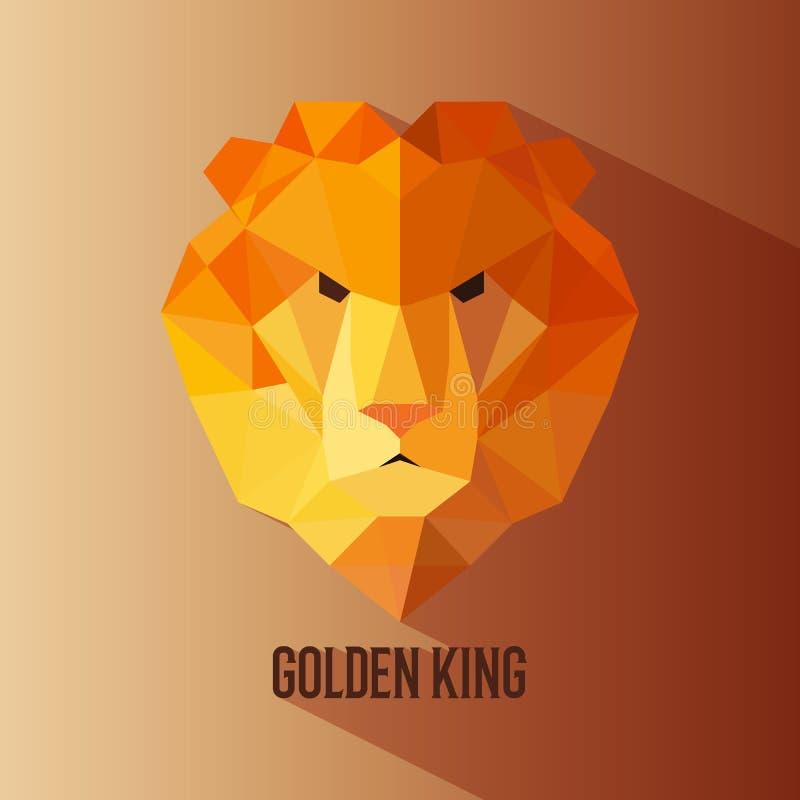 Χρυσός βασιλιάς έγχρωμος logotype απεικόνιση αποθεμάτων