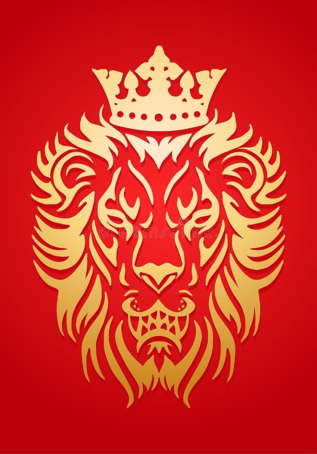 Χρυσός βασιλιάς λιονταριών ελεύθερη απεικόνιση δικαιώματος