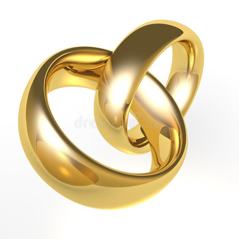χρυσός γάμος ζωνών απεικόνιση αποθεμάτων