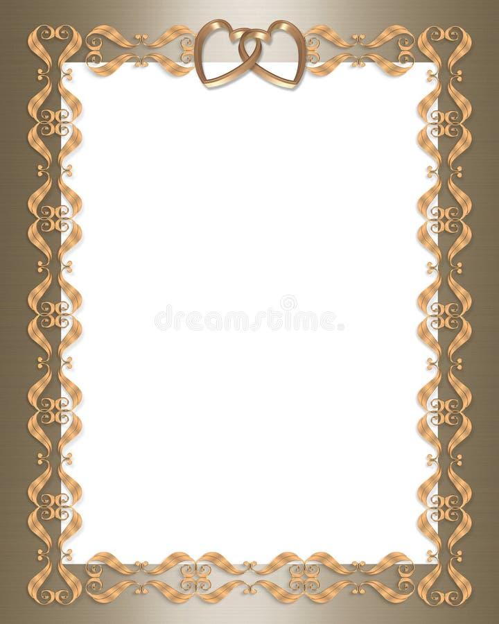 χρυσός γάμος πρόσκλησης &kappa διανυσματική απεικόνιση