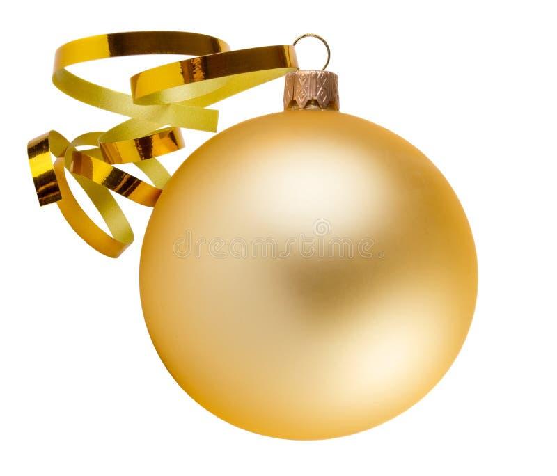 χρυσός διακοσμήσεων Χριστουγέννων σφαιρών στοκ φωτογραφίες