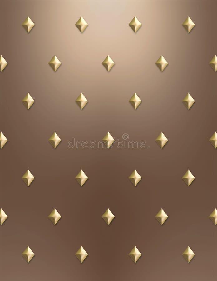 χρυσός διαμαντιών χαλκού ανασκόπησης απεικόνιση αποθεμάτων