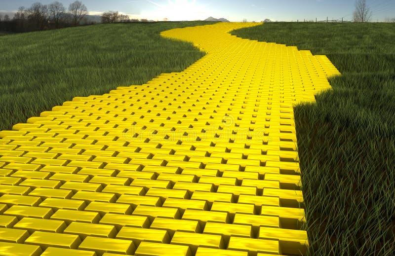 χρυσός δρόμος στοκ φωτογραφία