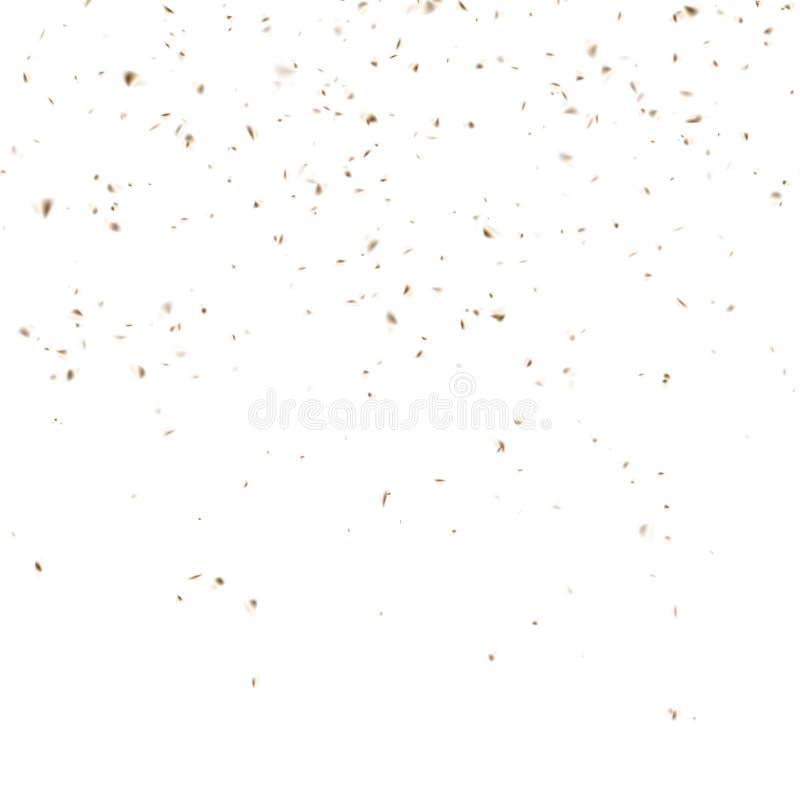 Χρυσός εορτασμός κομφετί που απομονώνεται στο λευκό ανασκόπηση εορταστική EPS 10 διάνυσμα απεικόνιση αποθεμάτων