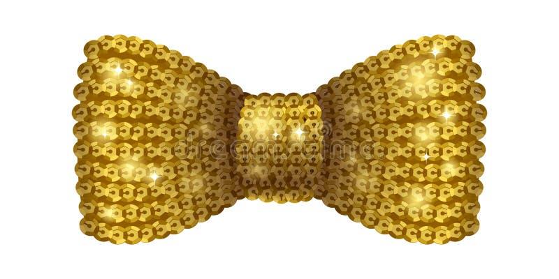 Χρυσός δεσμός τόξων τσεκιών απεικόνιση αποθεμάτων