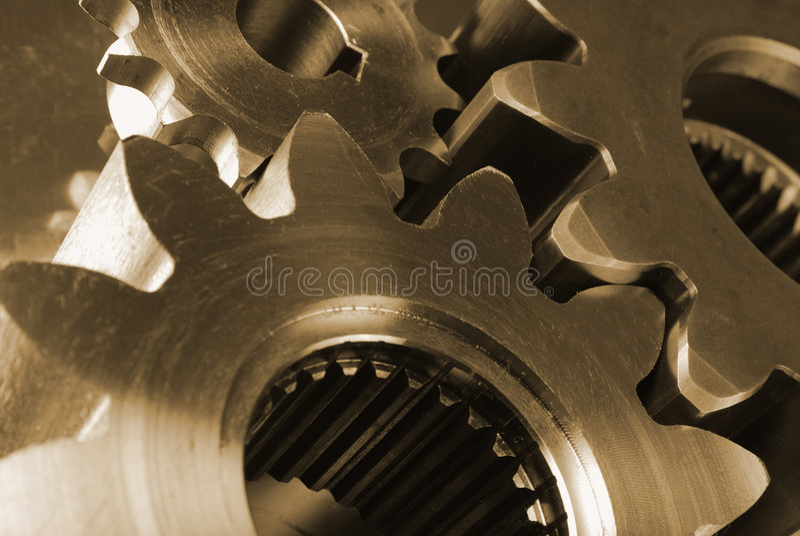 χρυσός εφαρμοσμένης μηχαν στοκ φωτογραφίες