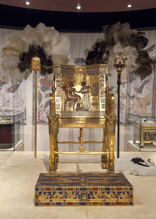 Χρυσός θρόνος Tutankhamun στοκ φωτογραφία με δικαίωμα ελεύθερης χρήσης