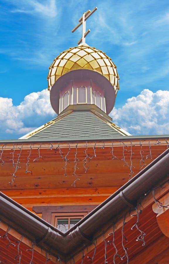 Χρυσός θόλος του ναού στοκ φωτογραφίες με δικαίωμα ελεύθερης χρήσης