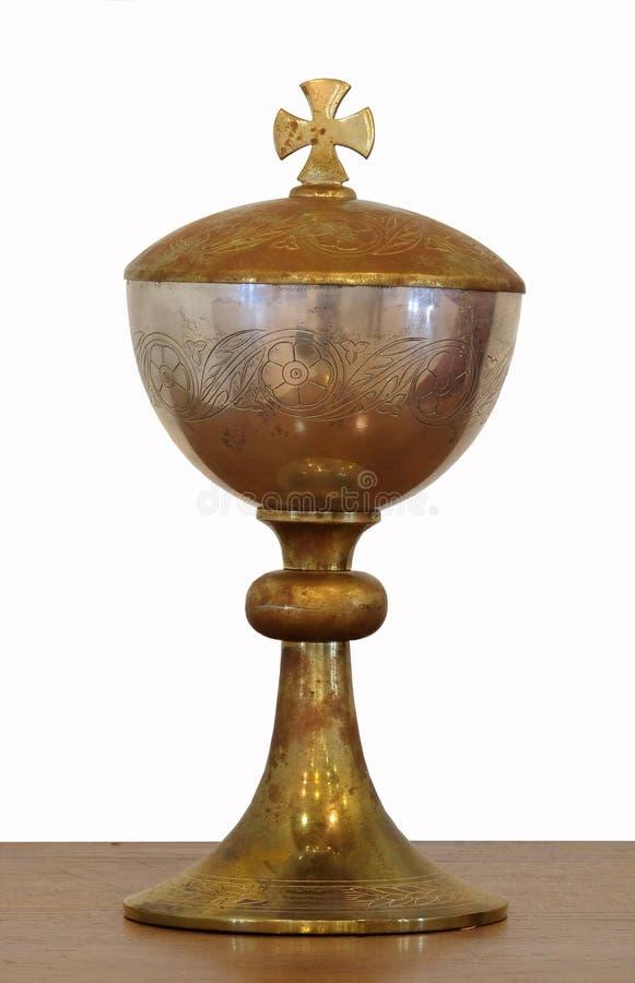Χρυσός ιερός κάλυκας στοκ φωτογραφία με δικαίωμα ελεύθερης χρήσης