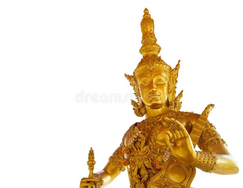 Χρυσός ινδός Θεός Catummaharajika στοκ εικόνα