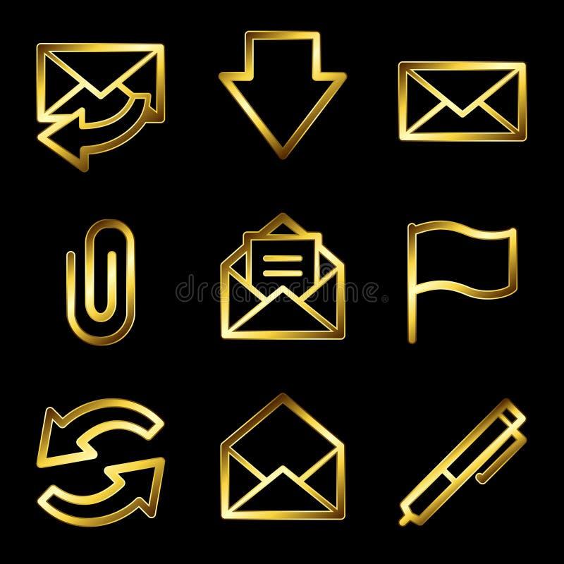 χρυσός Ιστός ταχυδρομεί&omic διανυσματική απεικόνιση