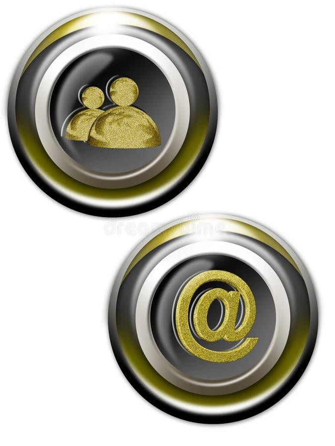 χρυσός Ιστός iconset 01 ελεύθερη απεικόνιση δικαιώματος