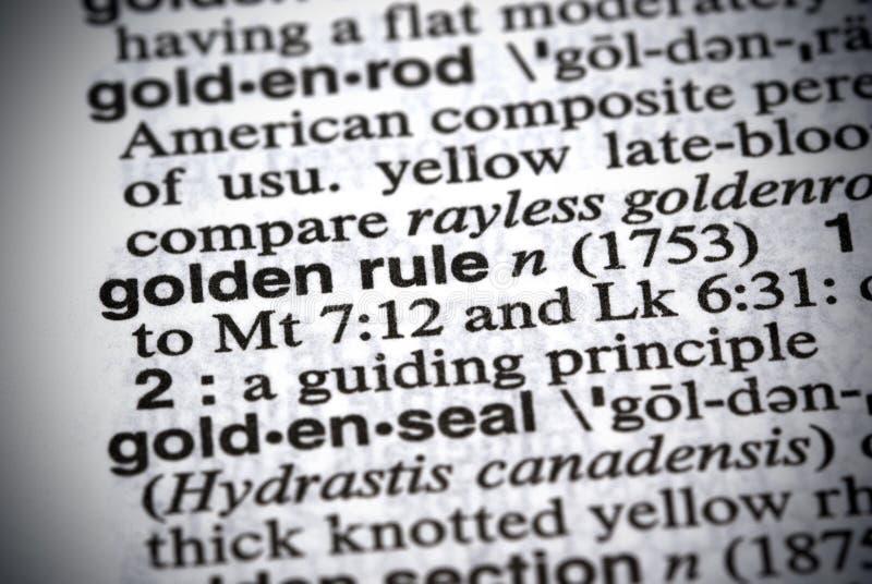 χρυσός κανόνας στοκ εικόνα με δικαίωμα ελεύθερης χρήσης
