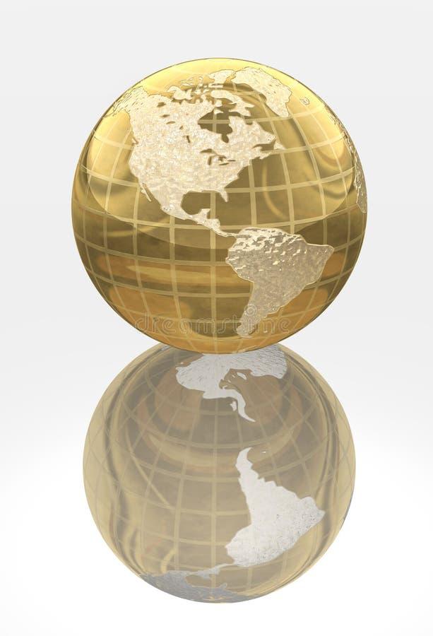 χρυσός κόσμος μετάλλων σφαιρών απεικόνιση αποθεμάτων