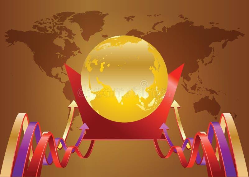 Χρυσός κόσμος διανυσματική απεικόνιση