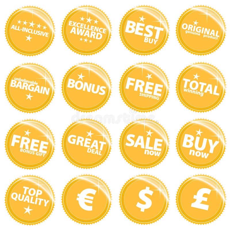 χρυσός λιανικός Ιστός αυ&t ελεύθερη απεικόνιση δικαιώματος